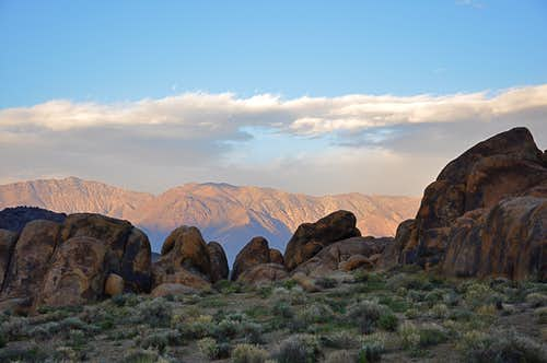 Sunset on Inyo Mountains