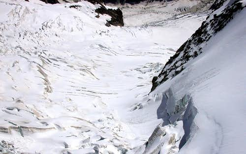 Glaciers of the Monte Bianco