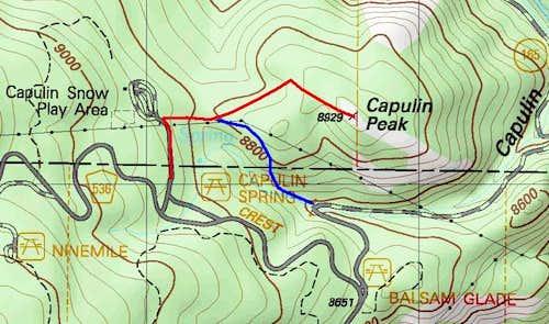Capulin Peak Topo