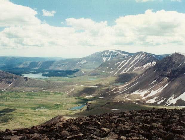 Mt. Emmons from Kings Peak...