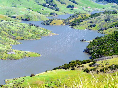 Nicasio Reservior with windy water