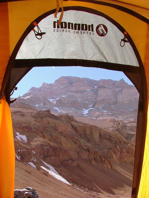Aconcagua from my tent.