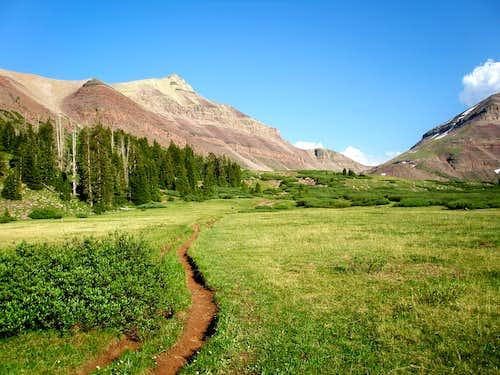 Gunsight Peak from Henrys Fork Basin