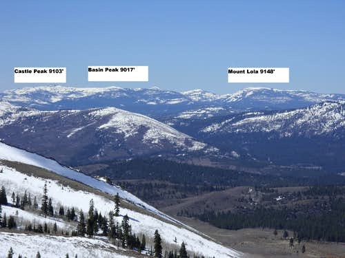 View west from Peavine Peak