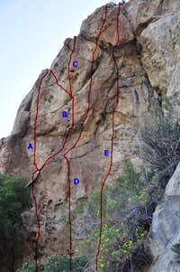 The overhanging east face,