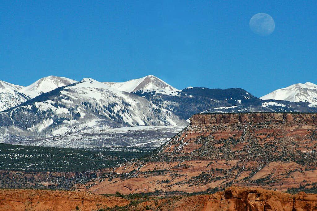 Moonrise Over the La Sal Mountains
