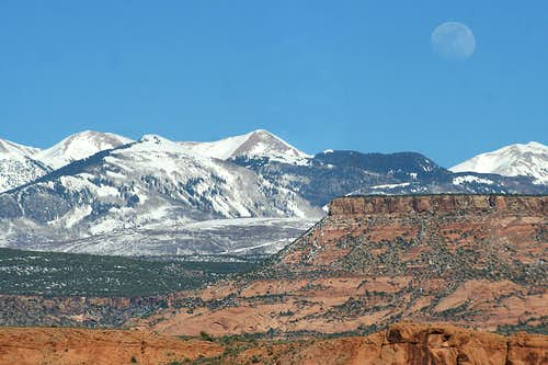 Moonrise Over the La Sal Mountains