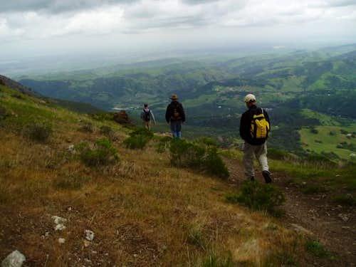 Desending Mount Diablo in the...