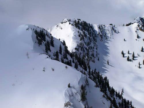 Cardiff Pass area from Flagstaff Mountain
