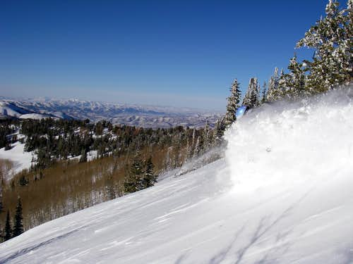 Skiing near Silver Peak