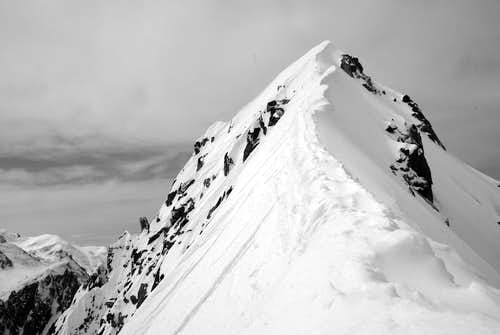 Summit ridge, (we skied it down from here.)