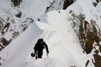 On the summit ridge..