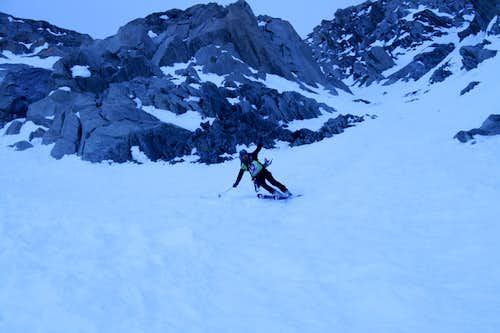 skiing out of Whymper