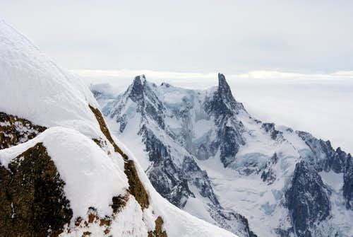 Geant from the couloir of Whymper