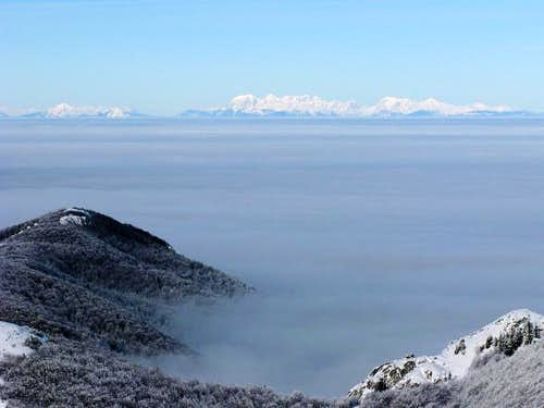 Kamnik-Savinja Alps from Snježnik