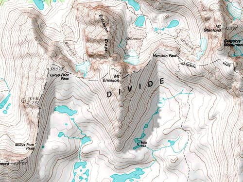 Topo Map of Mount Ericsson