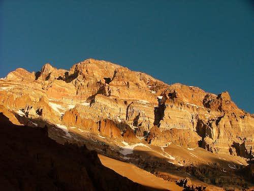 Sunset on Aconcagua.