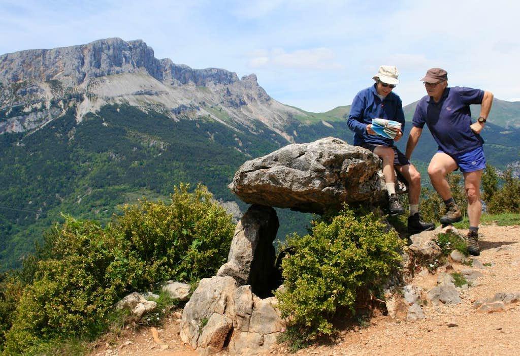 The Tella dolmen, Gargantas de Escuaín, Spannish Pirenees.