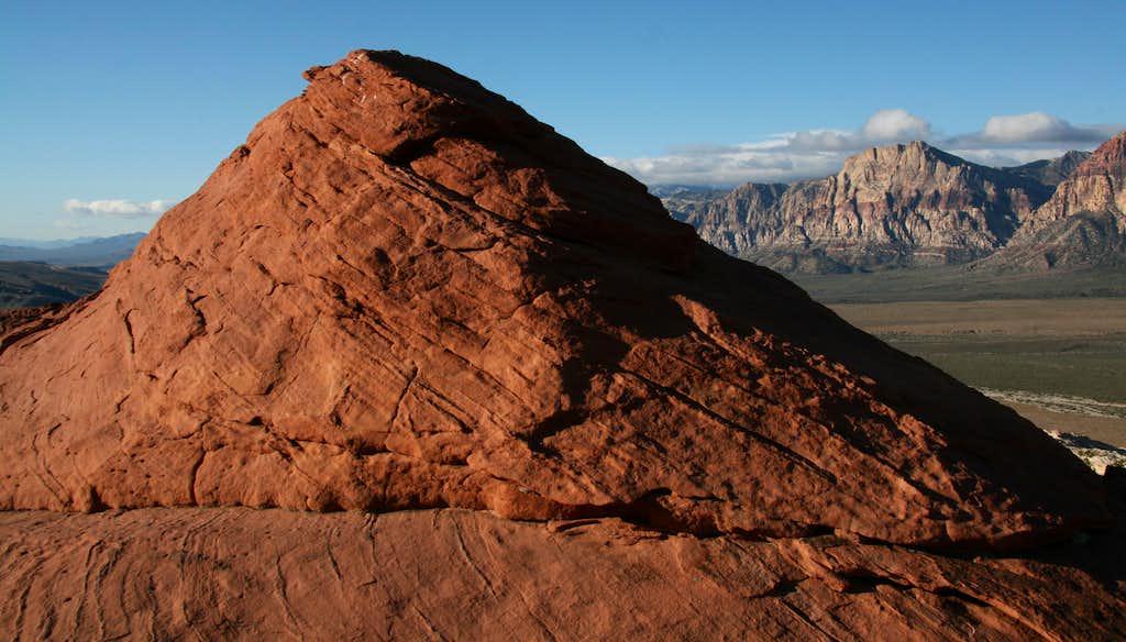Red Outcrop Below Summit