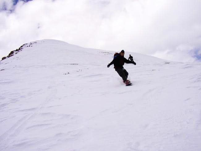 Snowboarding Mt. Lincoln. My...