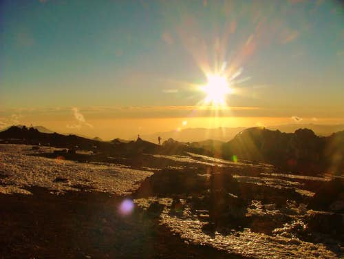 Sunset at Nido de Condores. Aconcagua. Argentina.