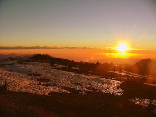 Sunset from Nido de Condores. Aconcagua, Argentina.