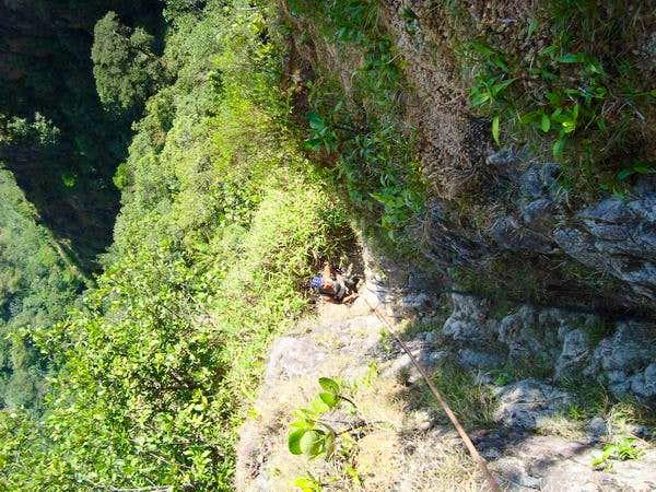 rockwall near to Victoria Peak summit