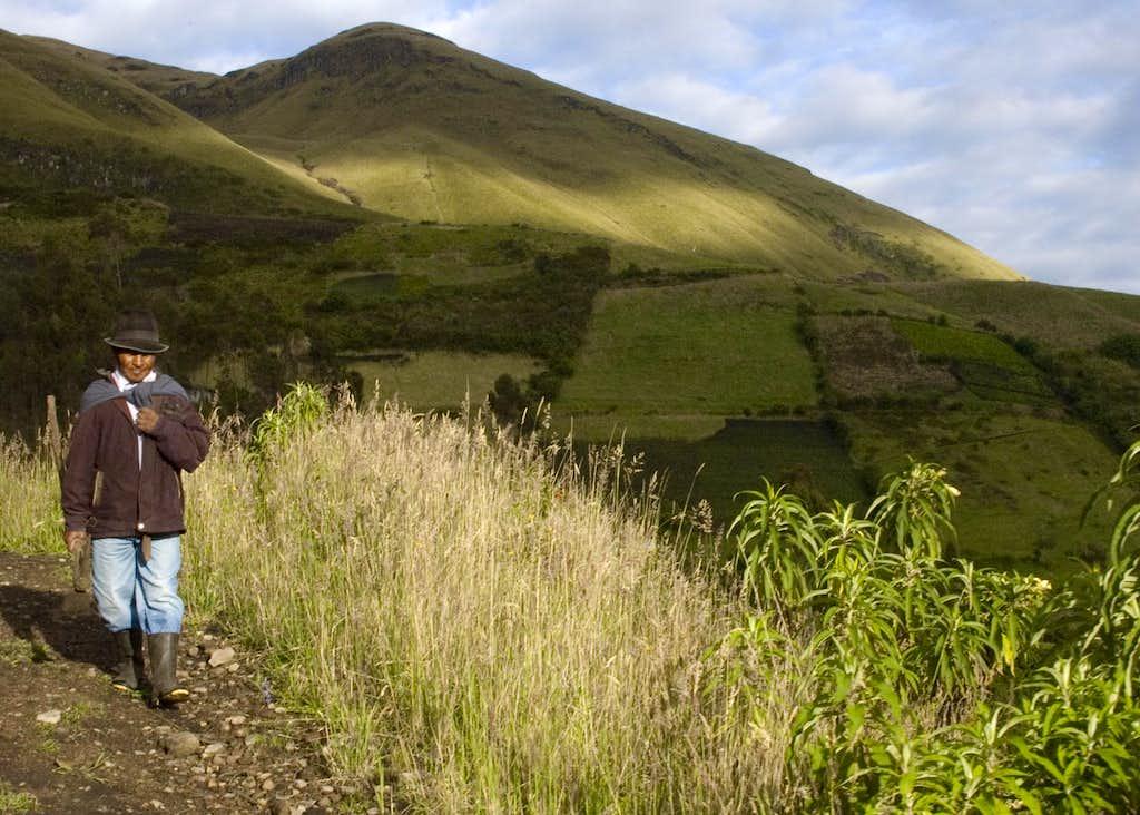 The slopes of Imbabura