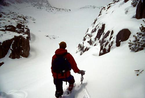 Hiking up to the Palisade Glacier