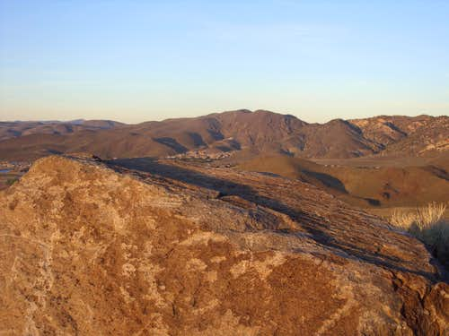 View east from Rattlesnake Mountain at sunset