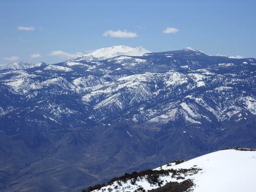 View of Mount Rose and the Carson Range from Peavine Peak