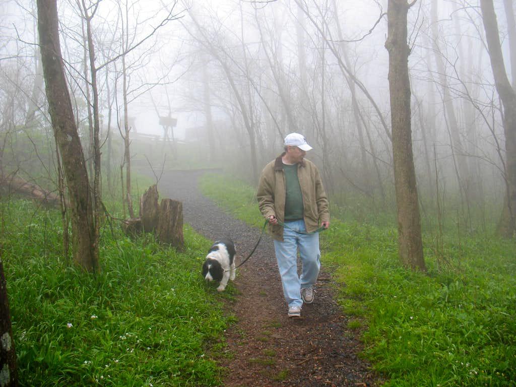 Hiking in the fog