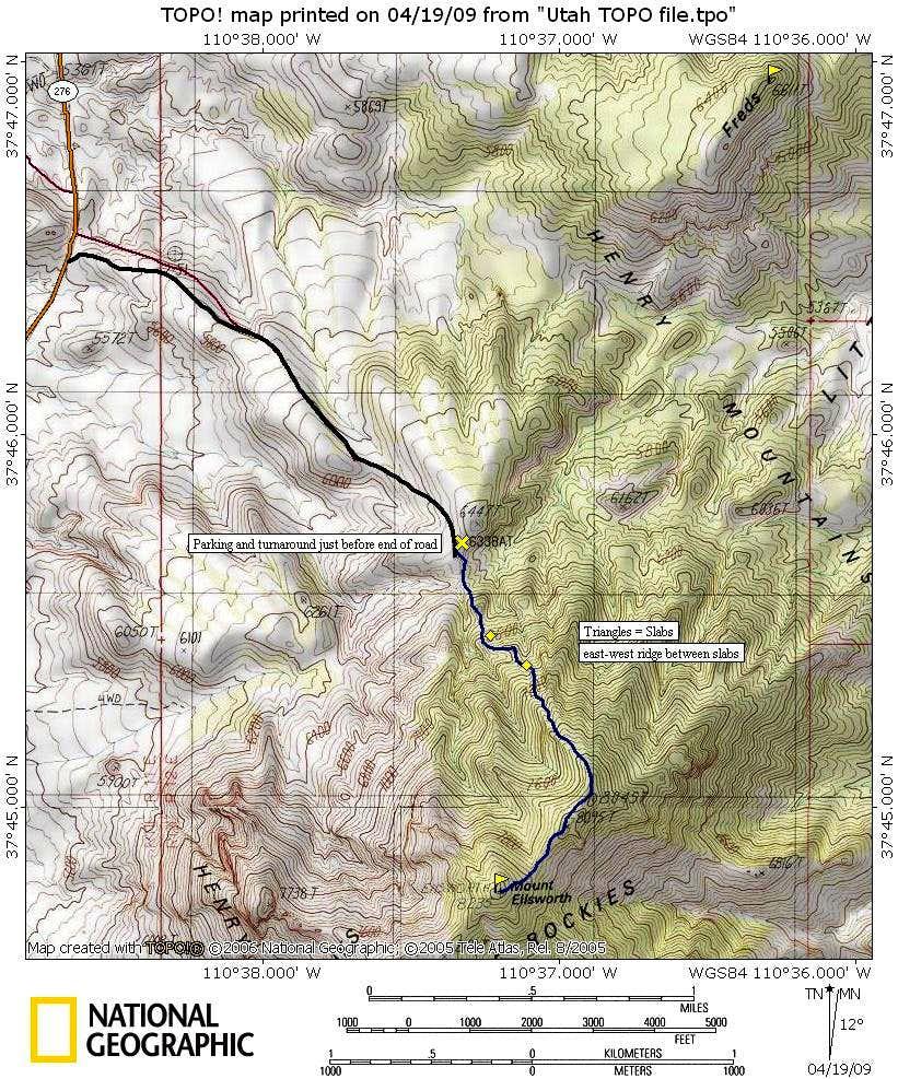 Map for Ellsworth