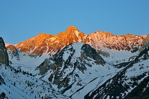 First Rays of Light on Mount Baldwin