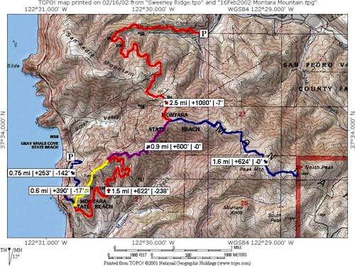 Montara Mountain trail map...