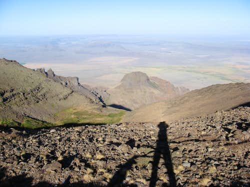 Man and Dog: Steens Mt.