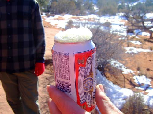 Frozen Beer in Arches