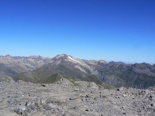 Looking West from the top of the Taillon to the Vignemale