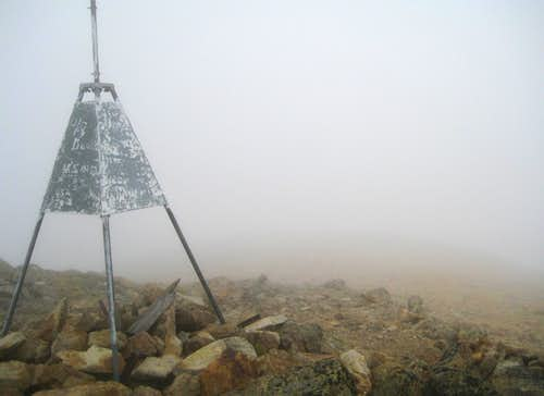 Mt Somers Summit Trig