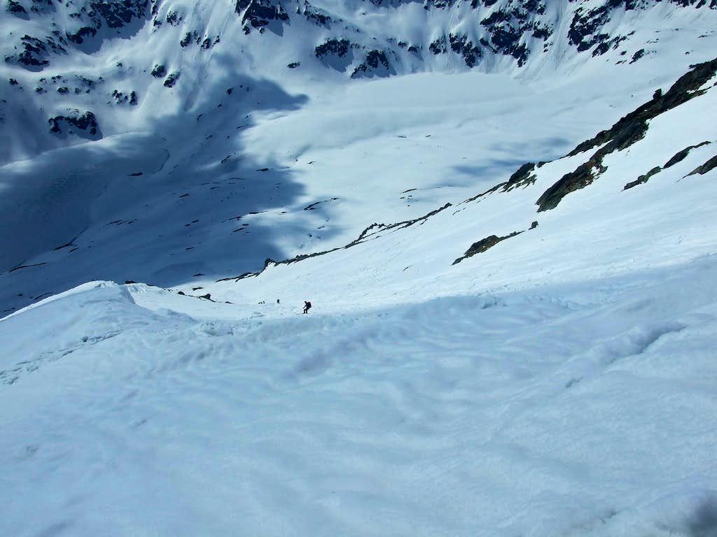 Ski descend from Kozi