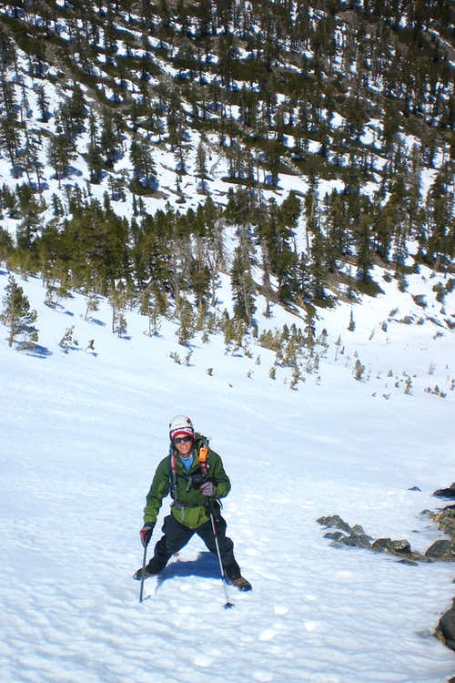 Climbing up the Couloir