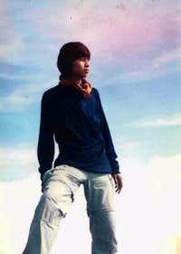 me on the Agung's peak
