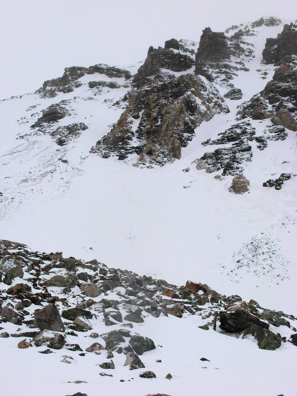 The upper headwall