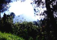 agung's peak from last temple...
