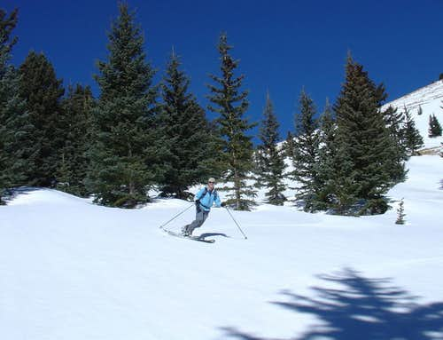 Amy finishing her Chicoma ski descent