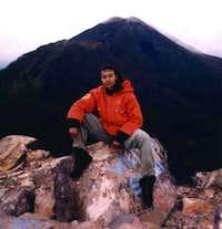 on Arjuno's peak with...