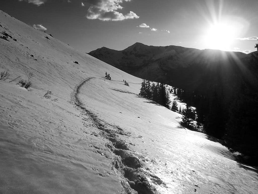 A snowy traverse