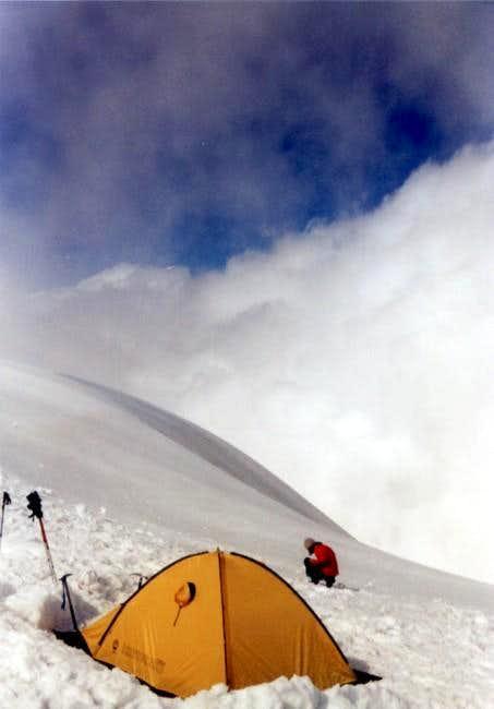 Camp II (3840mnpm) near the...