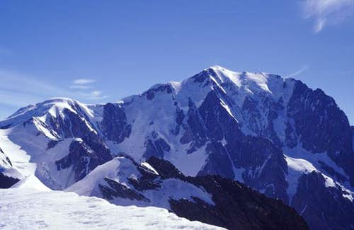 mont blanc seen from the dome...