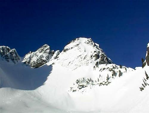 Chair peak from the basin...